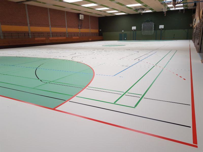 neuer Sporthallenboden